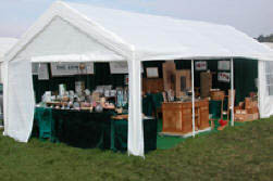 We visit Agricultural Events with silver jewellery and handmade furniture