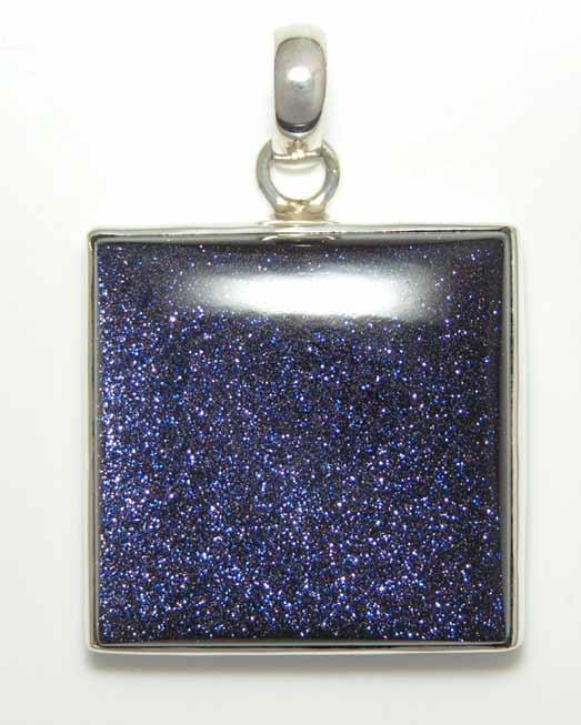 blue goldstone pendant